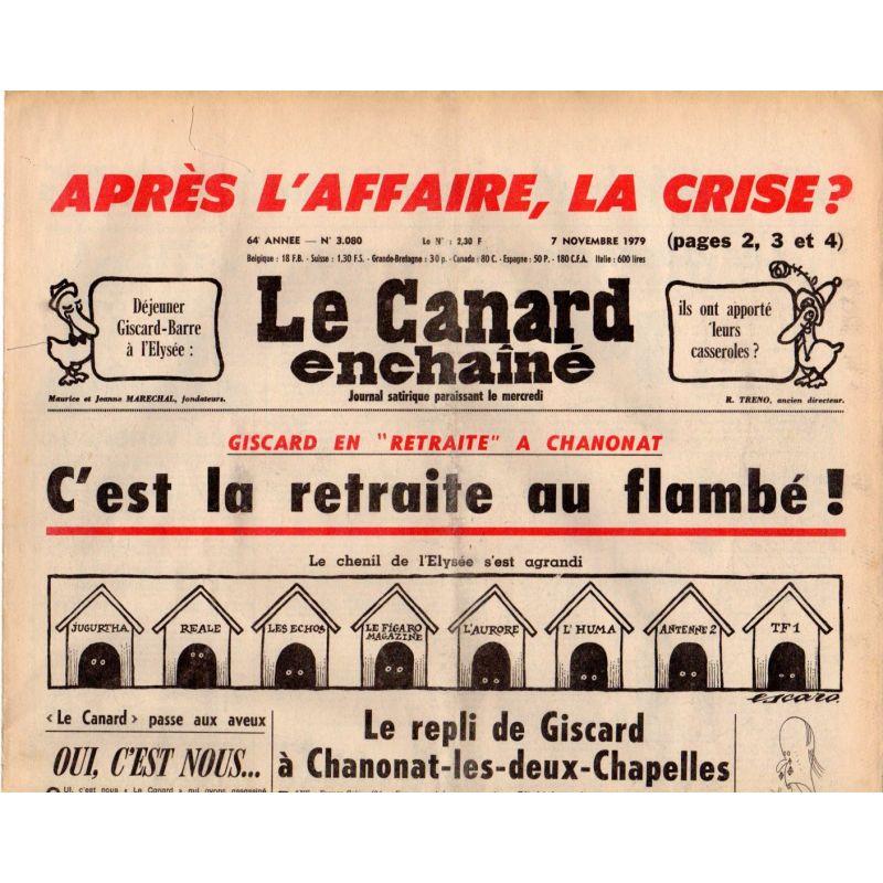 Canard Enchaîné (le) - n° 3080 - 7 novembre 1979