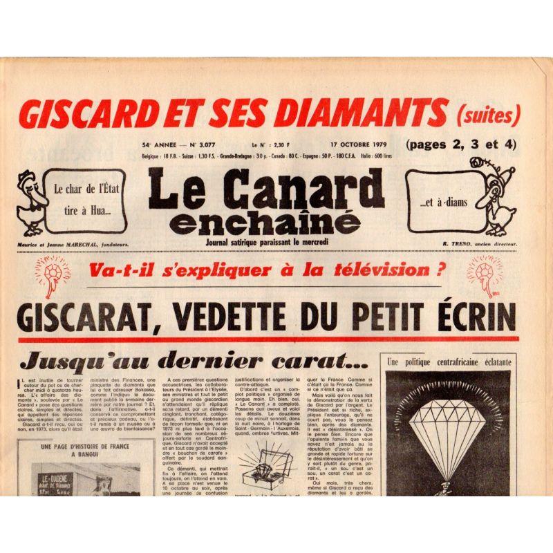 Canard Enchaîné (le) - n° 3077 - 17 octobre 1979
