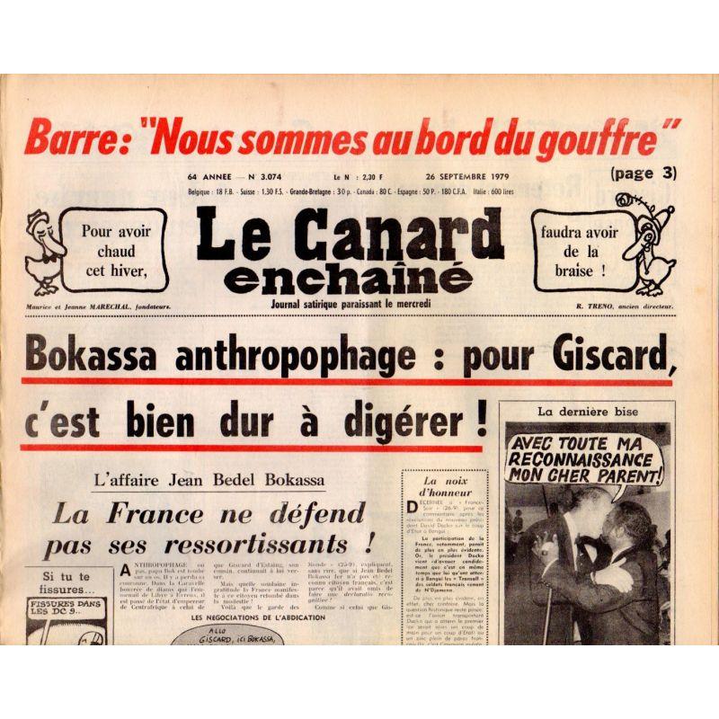 Canard Enchaîné (le) - n° 3074 - 26 septembre 1979