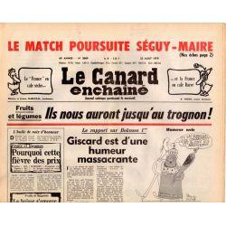 Canard Enchaîné (le) - n° 3069 - 22 août 1979