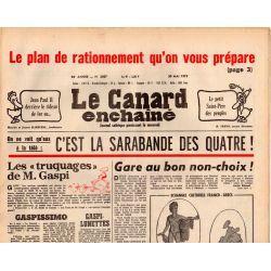 Canard Enchaîné (le) - n° 3057 - 30 mai 1979 - Le plan de rationnement qu'on vous prépare