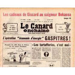 Canard Enchaîné (le) - n° 3056 - 23 mai 1979 - Les cadeaux de Giscard au saigneur Bolassa - Opération Gaspitres !