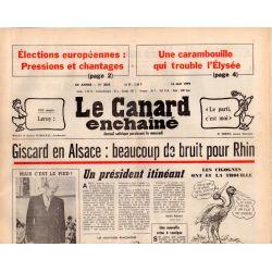 Canard Enchaîné (le) - n° 3055 - 16 mai 1979 - Giscard en Alsace : beaucoup de bruit pour Rhin