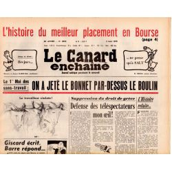 Canard Enchaîné (le) - n° 3053 - 2 mai 1979 - On a jeté le Bonnet par-dessus le Boulin