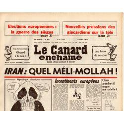 Canard Enchaîné (le) - n° 3051 - 18 avril 1979 - Iran : Quel Méli-Mollah !