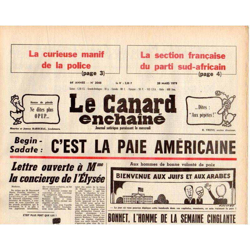 Canard Enchaîné (le) - n° 3048 - 28 mars 1979