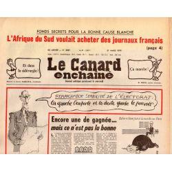 Canard Enchaîné (le) - n° 3047 - 21 mars 1979 - L'Afrique du Sud voulait acheter des journaux français