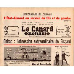 Canard Enchaîné (le) - n° 3045 - 7 mars 1979 - Chirac : l'obsession extraordinaire de Giscard