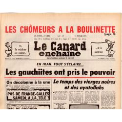 Canard Enchaîné (le) - n° 3042 - 14 février 1979 - Iran : les gauchiites ont pris le pouvoir