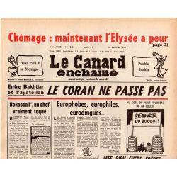 Canard Enchaîné (le) - n° 3040 - 31 janvier 1979 - Bakhtiar et l'ayatollah : le coran ne passe pas