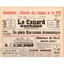 Canard Enchaîné (le) - n° 3038 - 17 janvier 1979 - Avortement : offensive des évêques et du RPR
