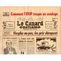 Canard Enchaîné (le) - n° 3036 - 3 janvier 1979 - Verglas ou pas, les prix dérapent