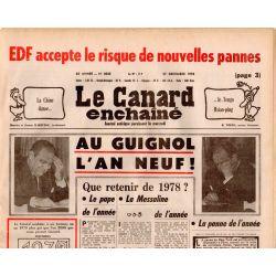 Canard Enchaîné (le) - n° 3035 - 27 décembre 1978 - Au Guignol l'An neuf