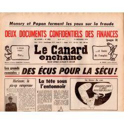 Canard Enchaîné (le) - n° 3033 - 13 décembre 1978 - Des écus pour la Sécu !