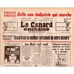 Canard Enchaîné (le) - n° 3031 - 29 novembre 1978 - Fraude fiscale : Enfin une industrie qui marche