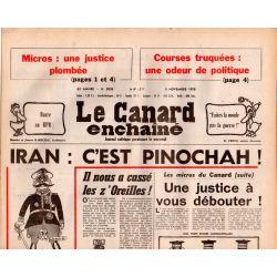 Canard Enchaîné (le) - n° 3028 - 8 novembre 1978 - Iran : C'est Pinochah !