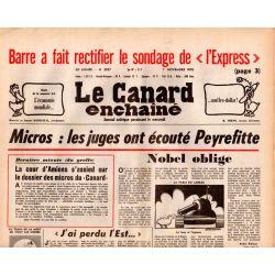 Canard Enchaîné (le) - n° 3027 - 1er novembre 1978 - Micros : les juges ont écouté Peyrefitte