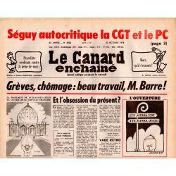 Canard Enchaîné (le) - n° 3026 - 25 octobre 1978 : Séguy autocritique la CGT et le PC