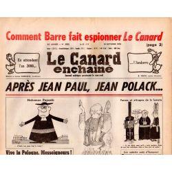 Canard Enchaîné (le) - n° 3025 - 18 octobre 1978 - Comment barre fait espionner Le Canard