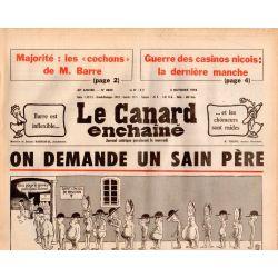 Canard Enchaîné (le) - n° 3023 - 4 octobre 1978 - On demande un Sain Père