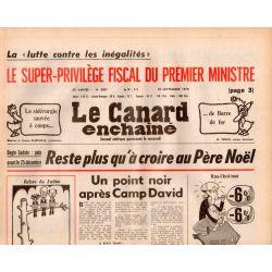 Canard Enchaîné (le) - n° 3021 - 20 septembre 1978 - Reste plus qu'à croire au Père Noël