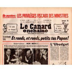 Canard Enchaîné (le) - n° 3020 - 13 septembre 1978 - Et ronds, et ronds, petits tas Papon !