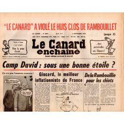 Canard Enchaîné (le) - n° 3019 - 6 septembre 1978 - Camp David : sous une bonne étoile ?