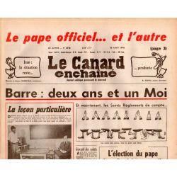 Canard Enchaîné (le) - n° 3018 - 30 aout 1978 - Barre : deux ans et un Moi