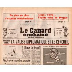 Canard Enchaîné (le) - n° 3014 - 2 aout 1978 - Ambassade d'Irak : la valise diplomatique et le cercueil
