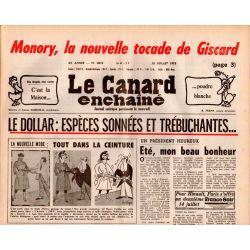 Canard Enchaîné (le) - n° 3013 - 26 juillet 1978 : Le dollar : Espèces sonnées et trébuchantes...