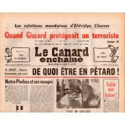 Canard Enchaîné (le) - n° 3011- 12 juillet 1978 - Quand Giscard protégeait un terroriste