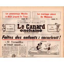 Canard Enchaîné (le) - n° 3009 - 28 juin 1978 - Faites des enfants : cocoricoït !