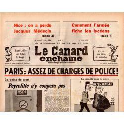 Canard Enchaîné (le) - n° 3008 - 21 juin 1978 - Paris : Assez de charges de Police !