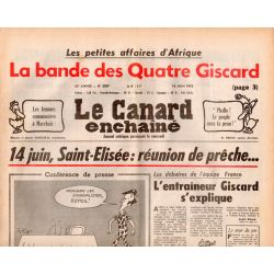 Canard Enchaîné (le) - n° 3007 - 14 juin 1978 - La bande des Quatre Giscard - 14 juin, Saint-Elisée : réunion de prêche...