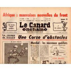 Canard Enchaîné (le) - n° 3006 - 7 juin 1978 - Voyage de Giscard : Une Corse d'obstacles