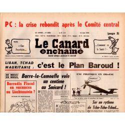 Canard Enchaîné (le) - n° 3002 - 10 mai 1978 - PC : la crise rebondit après le Comité central