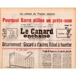 Canard Enchaîné (le) - n° 3001 - 3 mai 1978 - Désarmement : Giscard a d'autres Tchad à fouetter