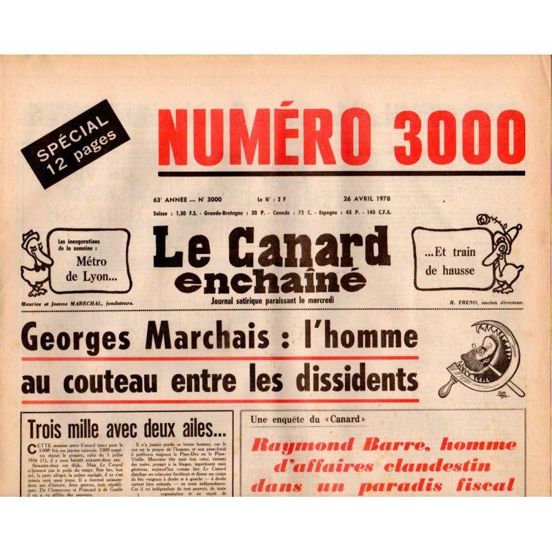 Canard Enchaîné (le) - n° 3000 - 26 avril 1978