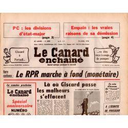 Canard Enchaîné (le) - n° 2999 - 19 avril 1978 - Le RPR marche à fond (monétaire)