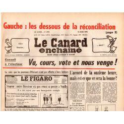 Canard Enchaîné (le) - n° 2994 - 15 mars 1978 - Gauche : les dessous de la réconciliation