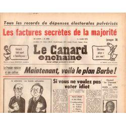 Canard Enchaîné (le) - n° 2992 - 1er mars 1978 - Les factures secrètes de la majorité