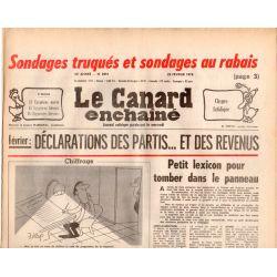 Canard Enchaîné (le) - n° 2991 - 22 février 1978 - Sondages truqués et sondages au rabais