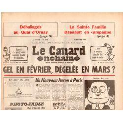 Canard Enchaîné (le) - n° 2990 - 15 février 1978 - Gel en février, dégelée en mars ?