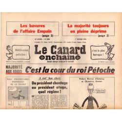 Canard Enchaîné (le) - n° 2988 - 1er février 1978 - Majorité : c'est la cour du roi Pétoche