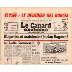 Canard Enchaîné (le) - n° 2986 - 18 janvier 1978 - Élysée : le déjeuner des Borgia