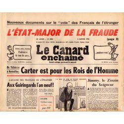Canard Enchaîné (le) - n° 2984 - 4 janvier 1978 - Carter est pour les Rois de l'Homme