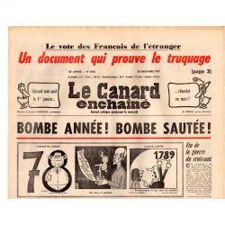 Canard Enchaîné (le) - n° 2983 - 28 décembre 1977 - Bombe Année ! Bombe sautée !