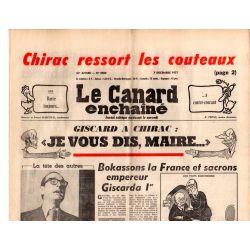 """Canard Enchaîné (le) - n° 2980 - 7 décembre 1977 - Giscard à Chirac : """"Je vous dis, Maire..."""""""
