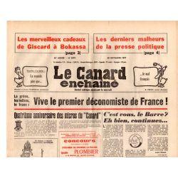 Canard Enchaîné (le) - n° 2979 - 30 novembre 1977 - Les merveilleux cadeaux de Giscard à Bokassa