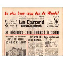 Canard Enchaîné (le) - n° 2977 - 16 novembre 1977 - Les poissonniers : coup d'arêtes à la taxation